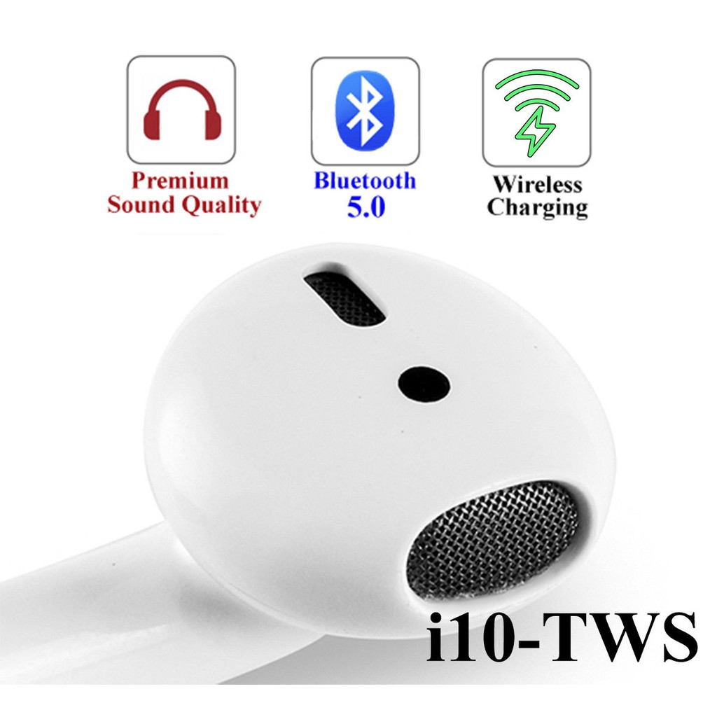 I10 TWS Wireless Bluetooth Earbuds Earphone Stereo | Shopee Philippines