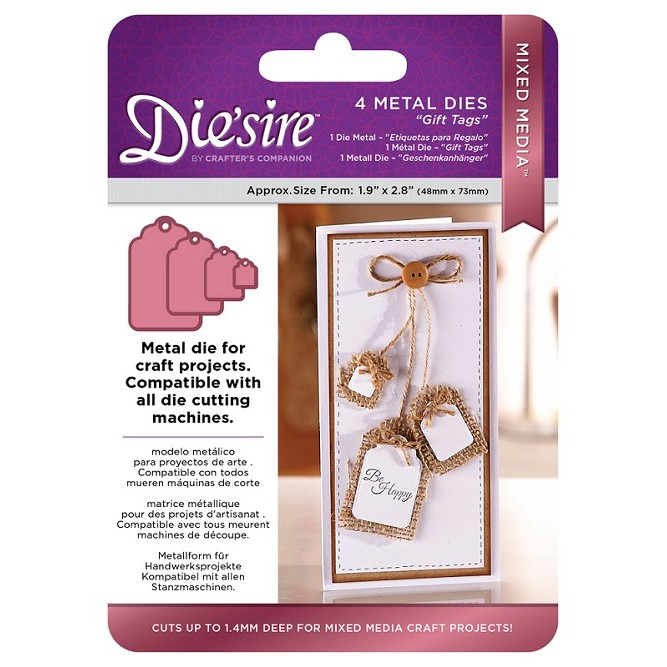 Die/'sire Mixed Media Gift Tags Metal Die by Crafter/'s Companion NEW