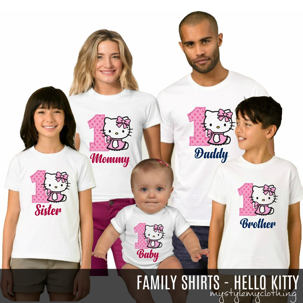 Match Tee Family Shirt Hello Kitty Birthday Terno Top Set
