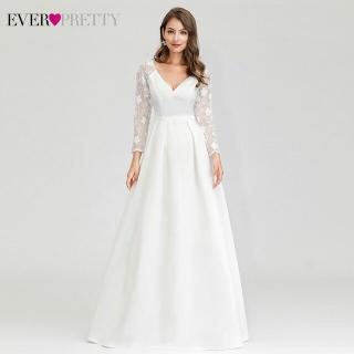 Long Sleeve Lace Illusion Wedding Gown