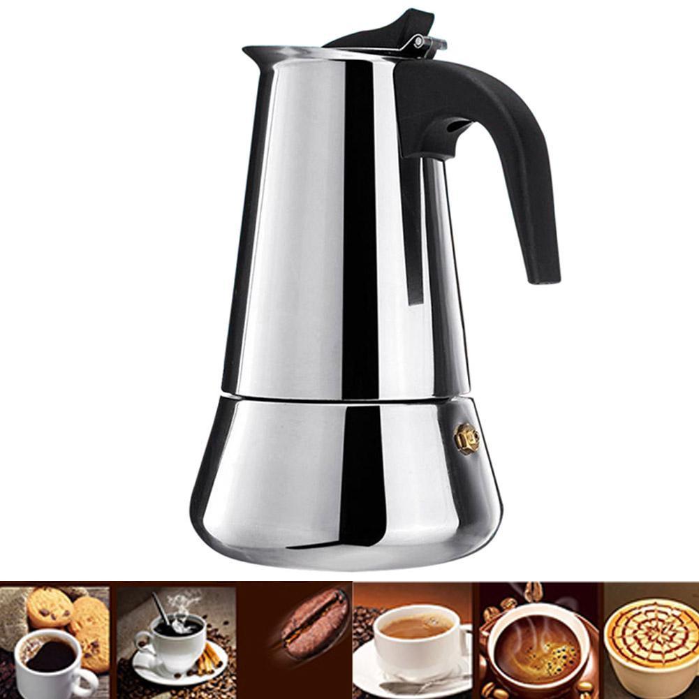 Big Belly Coffee Pot Moka Stainless Steel Coffee Maker