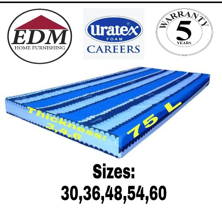 4 INCHES URATEX FOAM w/ THIN COVER (ALL VARIOUS SIZES)
