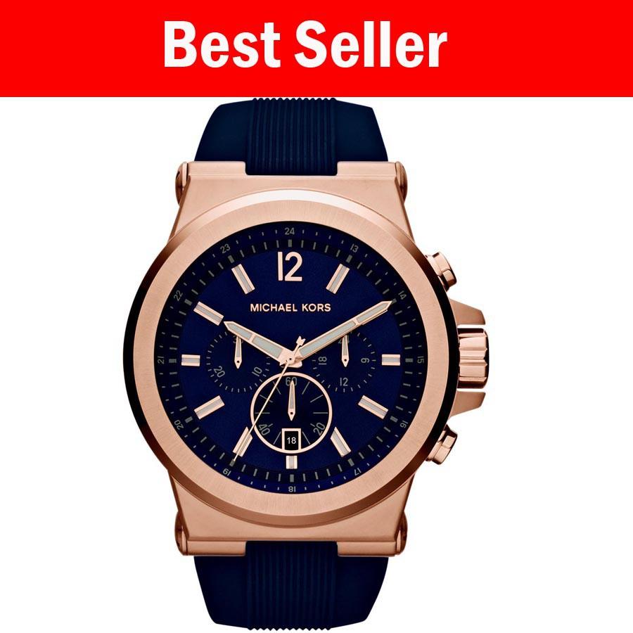 08bd639ea655 Michael Kors Oversized Runway Rosegold-Tone Watch (MK8096)