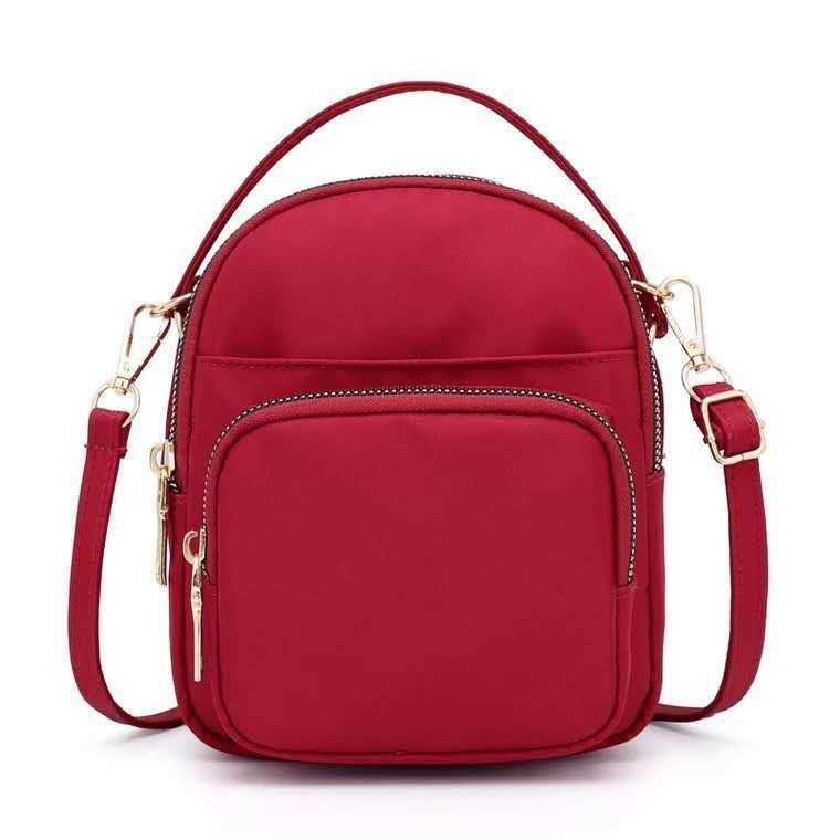 d9ac60c16e0a Women Solid Multi-pockets Casual PU Leather Crossbody Bag