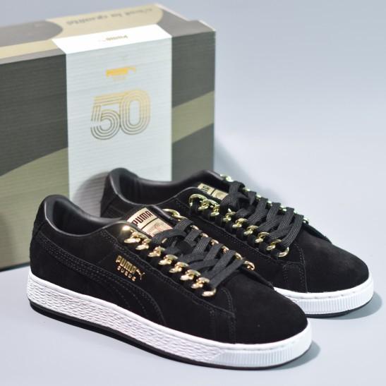 new style 9663a 60446 100% Original Puma Suede Classic x Chain Men&Women Sneaker