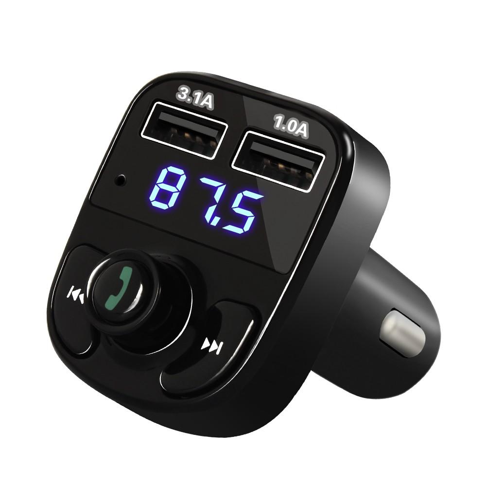 Bluetooth Car Kit FM Transmitter MP3 Player Dual USB 4 1A