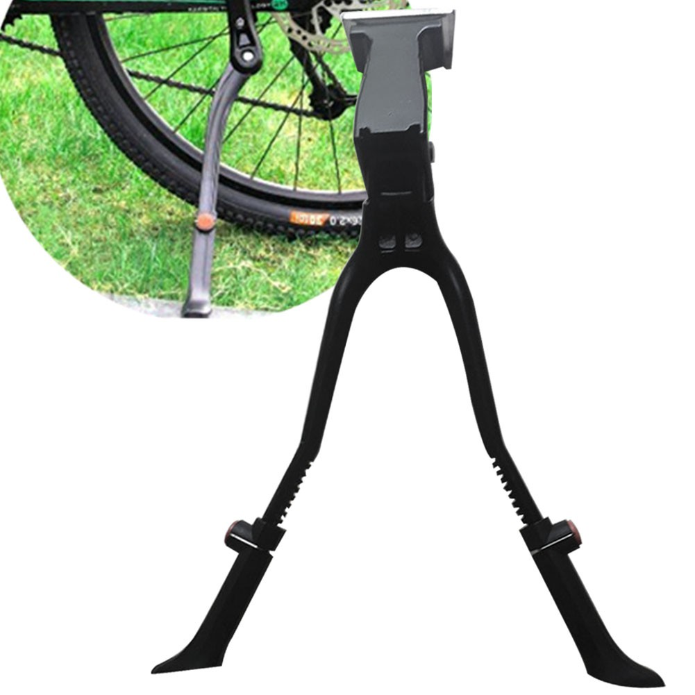 Double Two Leg Center Mount MTB Road Bike Bicycle Cycling Side Kick Stand Black