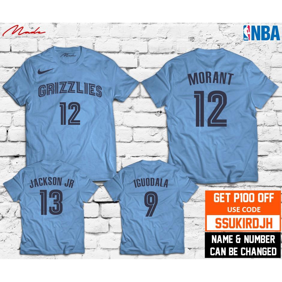 competitive price 7eaf2 e9b2b NBA - Memphis Grizzlies Ja Morant Jarret Jackson Jr Andre Iguodala Jersey  Shirt