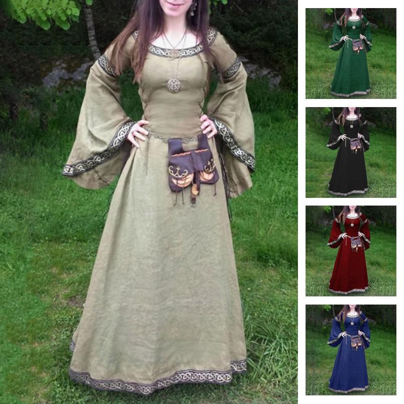 0d9492a9676ff Cotton Dress Medieval Dress Women's Victorian Costume Gown