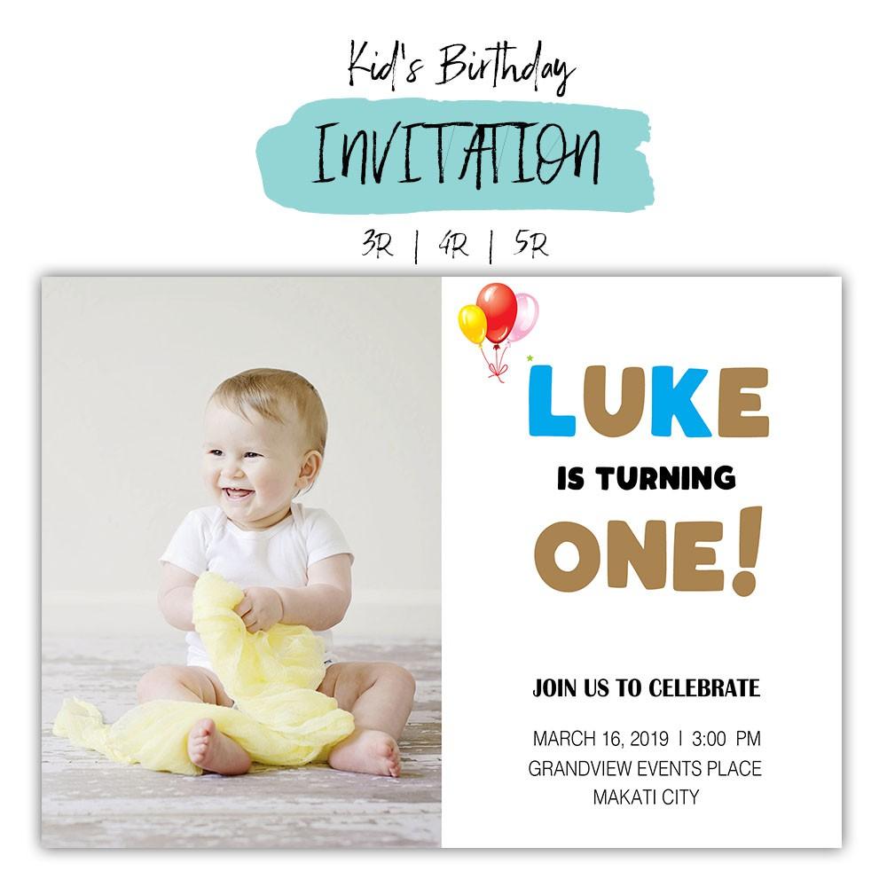 Kids Birthday Invitation Card First Birthday Invitation