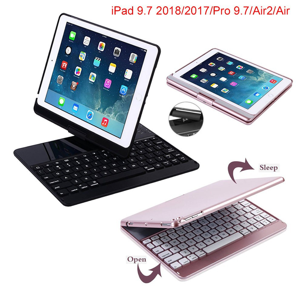 iPad Keyboard Case for iPad 9 7 2017 / iPad 9 7 2018 /Pro 9 7/ Air2/ Air  Bluetooth Wireless Keyboard