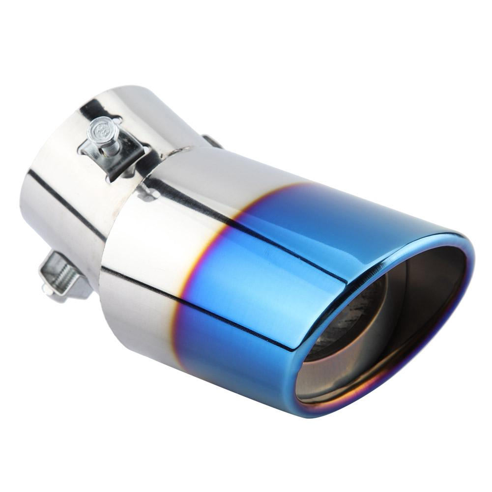 Car Blueing Stainless Steel Chrome Exhaust Muffler Fit For Curve Tail Pipe Tip