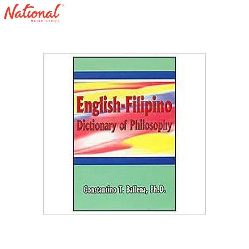 English-Filipino Dict Of Philo