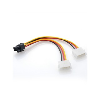 Double 4pin to 6pin Power Adapter Cable PCI-E Graphics Card