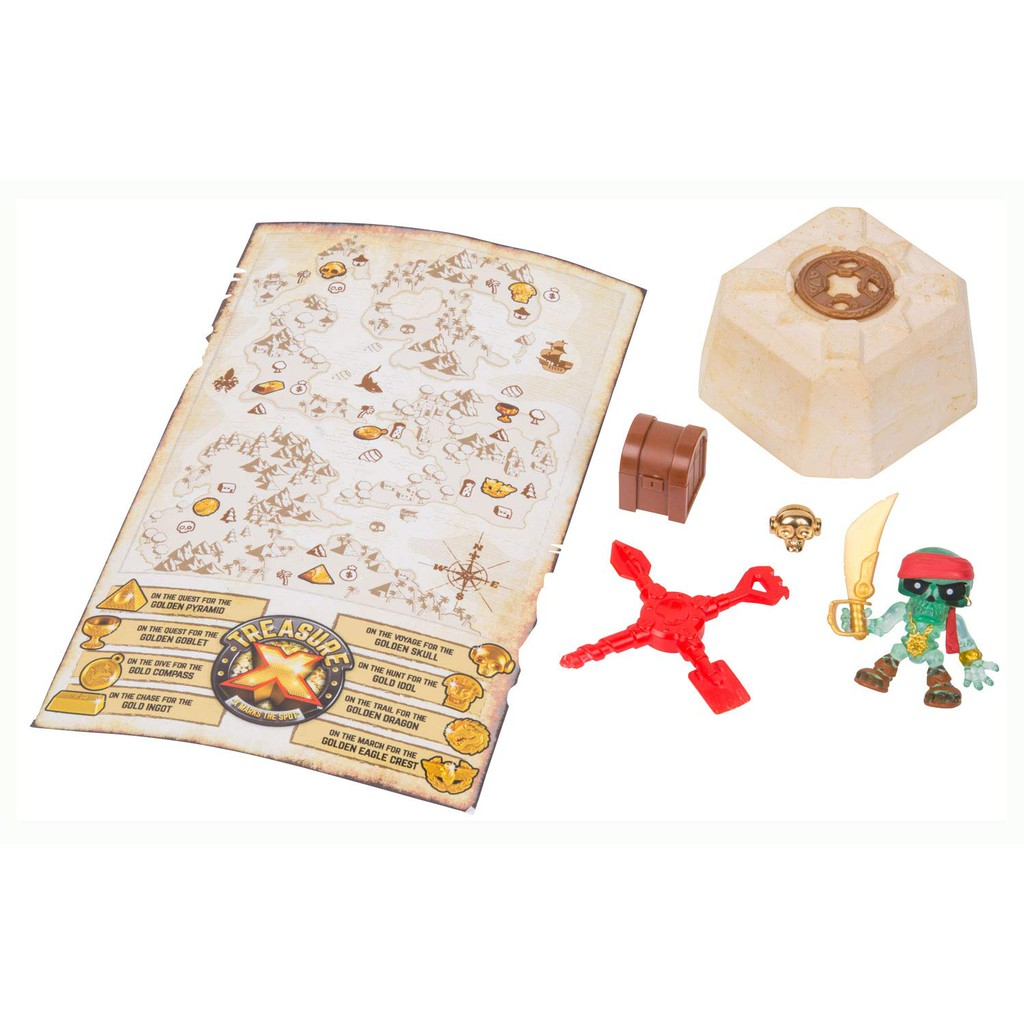 Trésor X Mystery Pack Adventure Gold Action Figures X Marks the Spot DIG /& Fizz