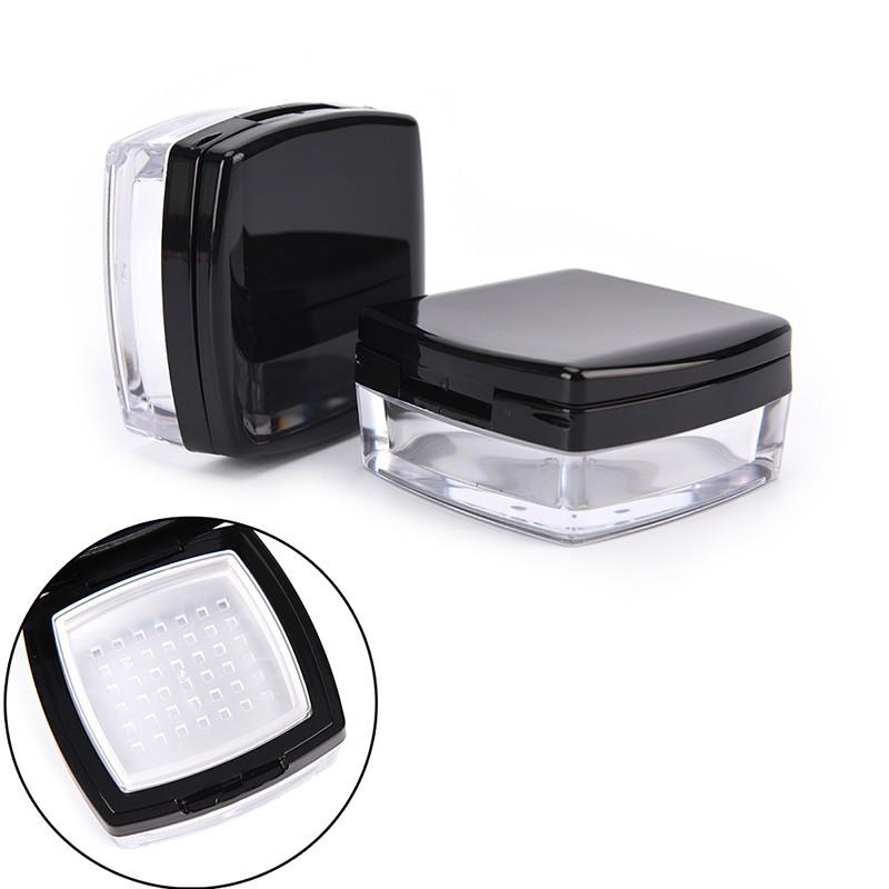 0e83ca655535 HBPH 1Pc 10g Empty Cosmetic Sifter Loose Powder Jar Puff Box
