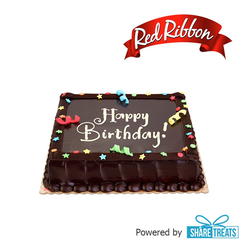 Tremendous Red Ribbon Chocolate Dedication Cake Jr Sms Evoucher Shopee Funny Birthday Cards Online Inifofree Goldxyz