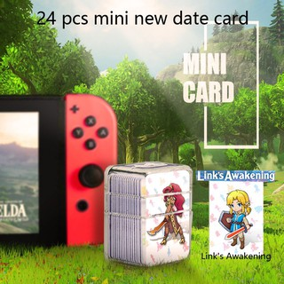 Animal Crossing New Horizons NFC Tag Game Cards for Switch//Switch Lite//Wii U 24pcs Mini Cards with Crystal Case