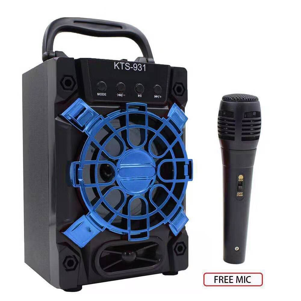 Karaoke Portable Wireless Bluetooth Speaker With Mic KTS-931