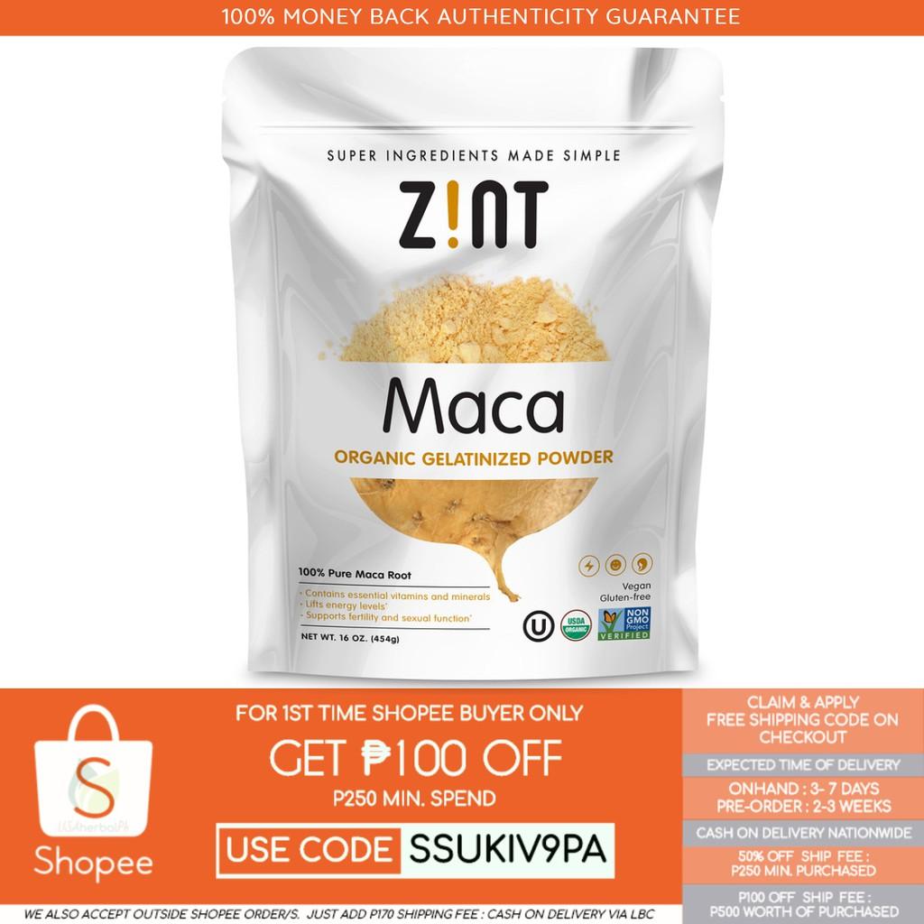 Onhand Z!NT, Maca, Organic Gelatinized Powder
