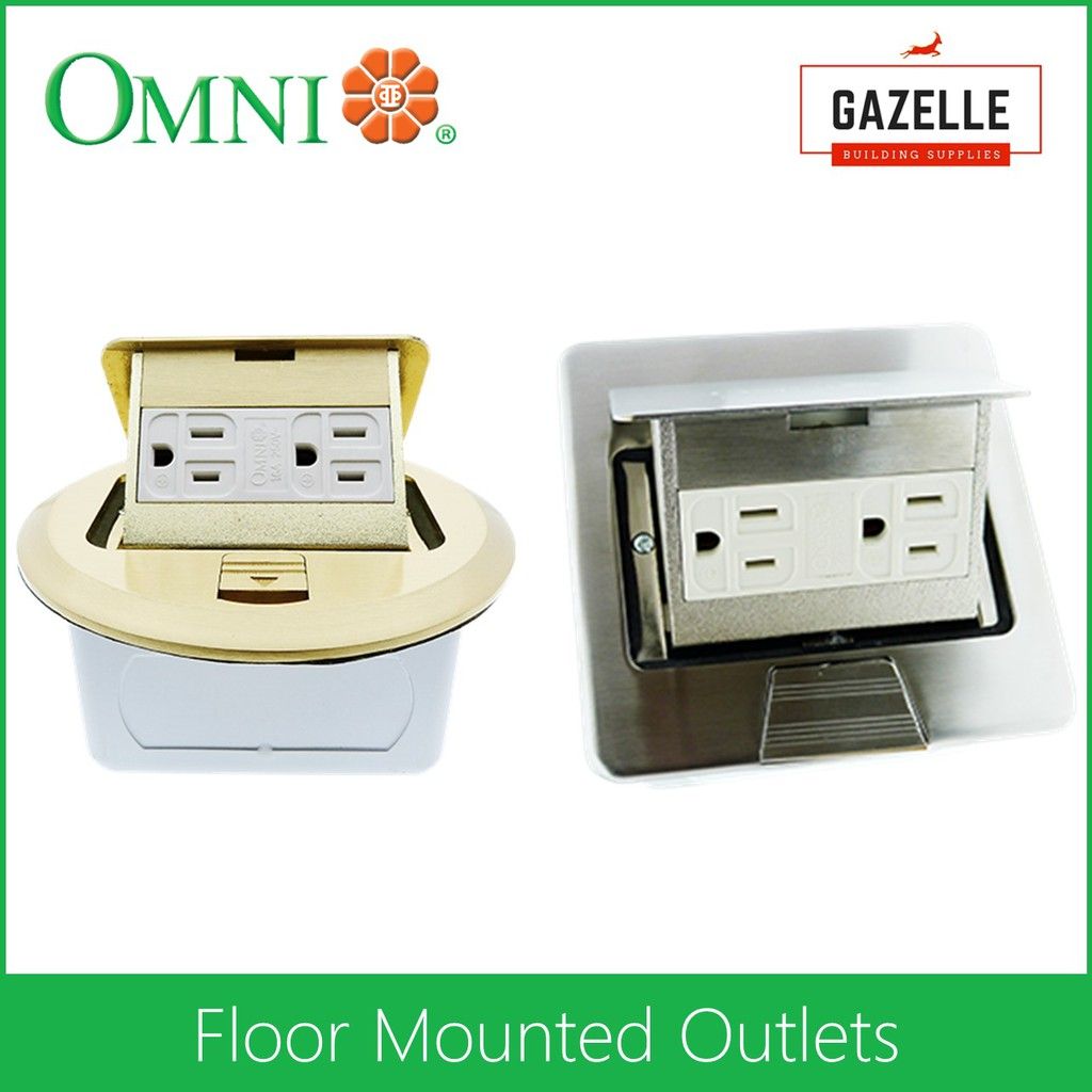 Omni Floor Mounted Outlet Round Square