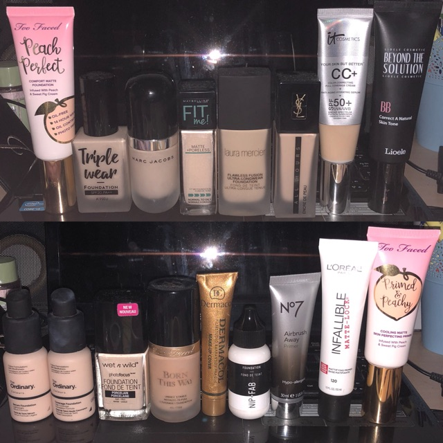 TAKAL of FAIR Foundations/Primers of Too Faced, Marc Jacobs, YSL, Laura  Mercier, IT Cosmetics