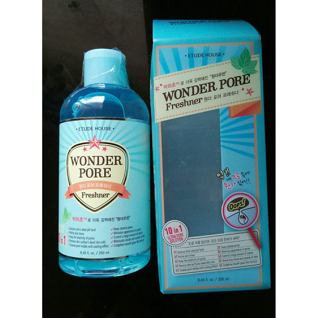 Etude House Wonder Pore 10 1 Toner 250ml 500ml Shopee Philippines Freshner 500 Ml