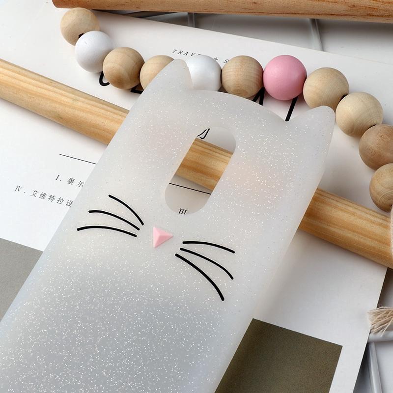 LG Q Stylo 4 LG Q Stylus Cover Cat Beard Soft TPU Case