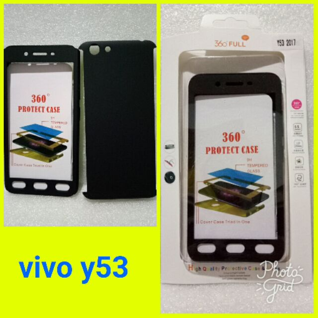 the latest dc552 880f9 Vivo y53 360 case full body coverage with tempered