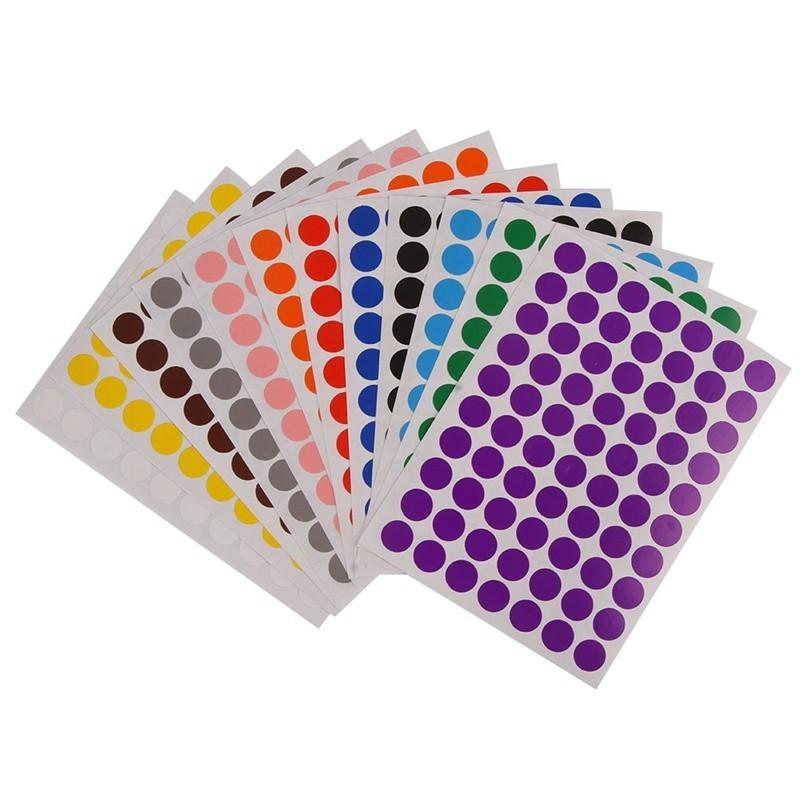Mini Sticker Pack 15mm Star Shape Self-Adhesive Paper Labels