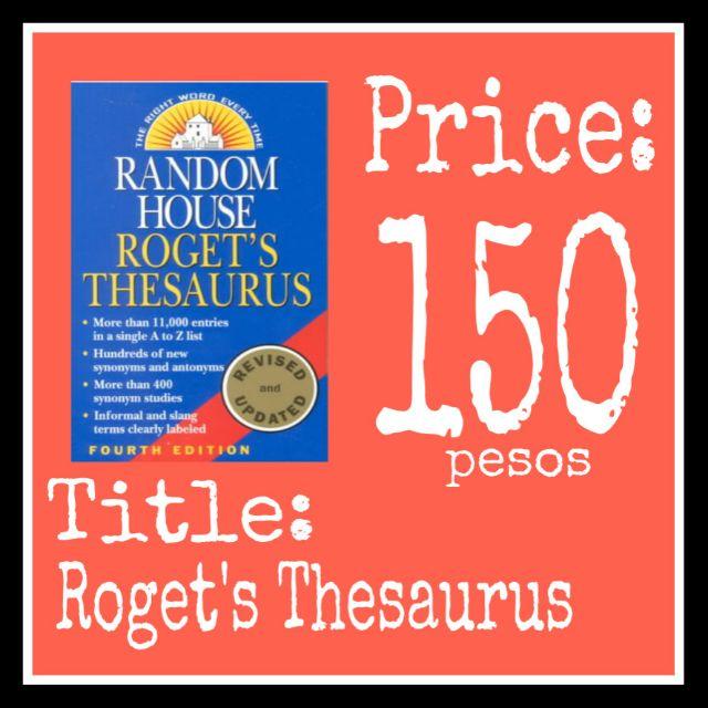 Roget's Thesaurus (Random House)