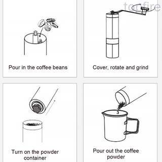 Manual Coffee Grinder with Adjustable Setting Stainless ...