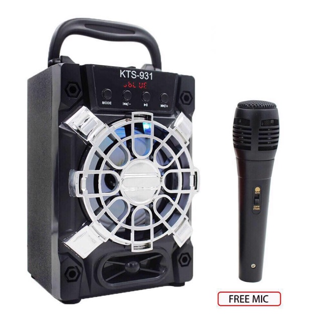 Karaoke Portable Wireless Bluetooth Speaker With Mic KTS-93