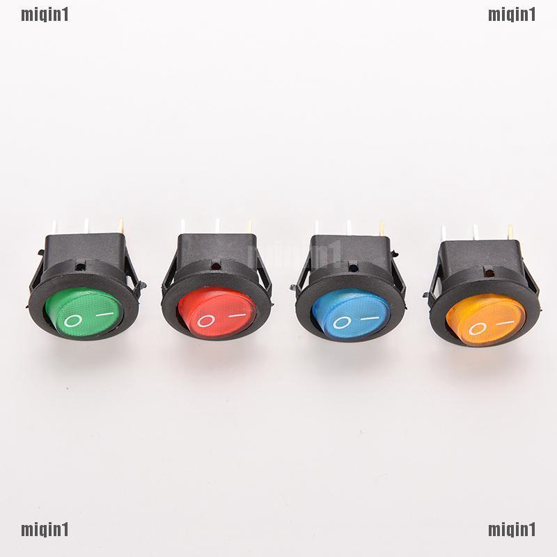 4Pcs 12V Car Round Rocker Dot Boat Switch Blue LED Light Toggle ON//OFF Switches