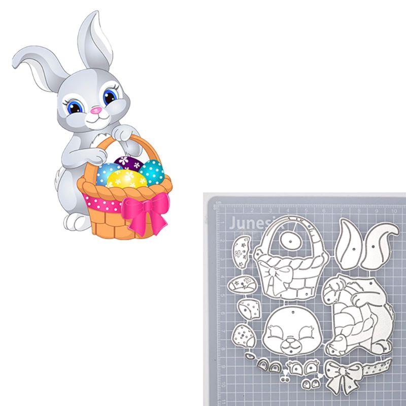 Bunny Rabbit Easter Metal Cutting Dies Stencil Scrapbooking DIY Album Stamp Card