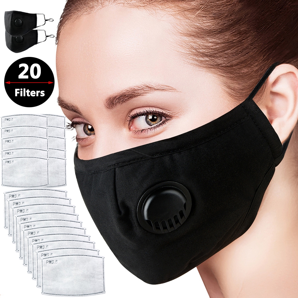 For Gas 2pcs Allergy Dust Pm2 N95 Protective Smoke 5 Adjustable Mask