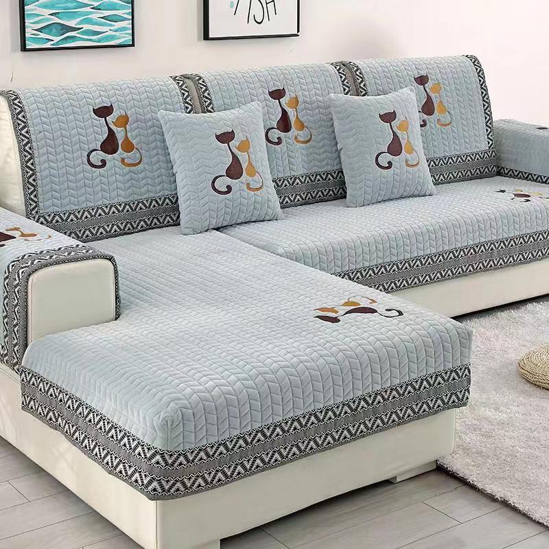 Winter Plush Sofa Mat Universal Cloth