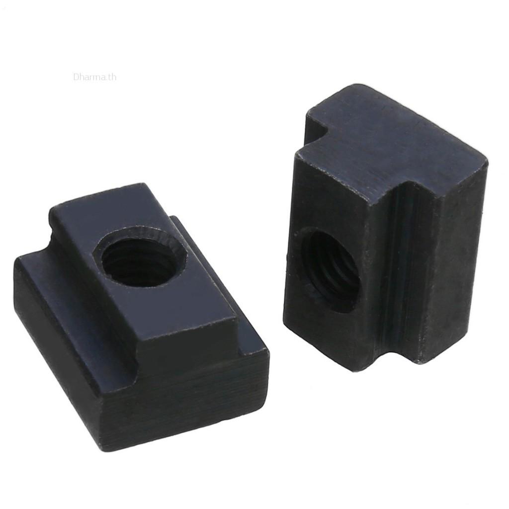 10pcs M6 T Slot Nuts Set Black Oxide Finish T-Slots Nut for T Track COD