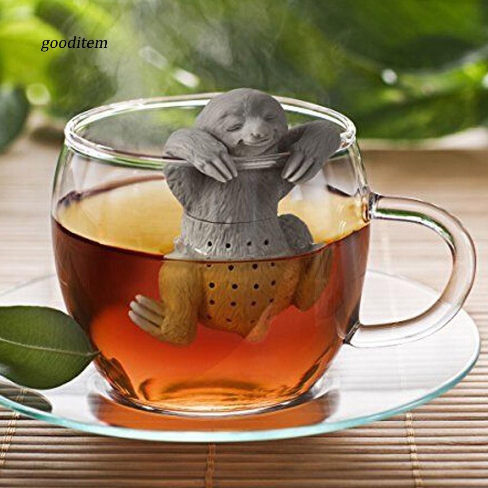 EG/_ Lollipop Tea Infuser Loose Leaf Strainer Bag Herbal Spice Filter Diffuser We