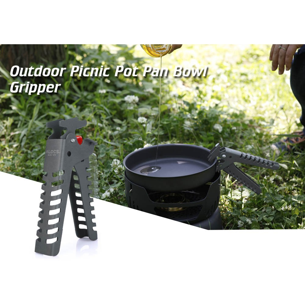 Camping Pot Pan Bowl Gripper For Cookware Cooking Picnic Handle Clip Hand Clamp