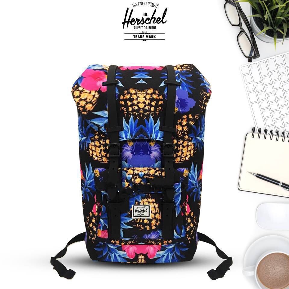 0e3deb6f2df Herschel Reid Midvolume Backpack Floral Chambray