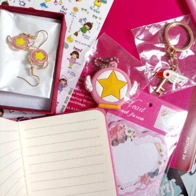 Card Captor Sakura Cute Metal Paper Clip Anime Cosplay Bookmark Accessories 6PCS