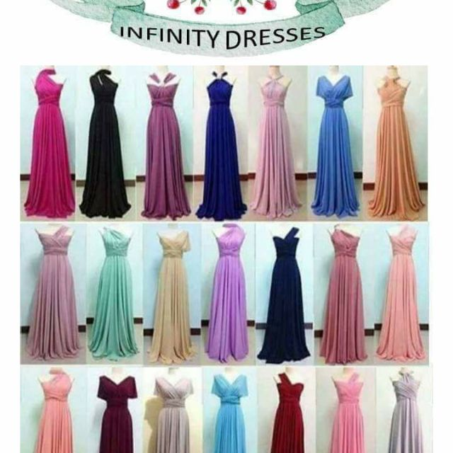 hot-selling genuine fashion style new varieties INFINITY DRESS PLUS SIZE