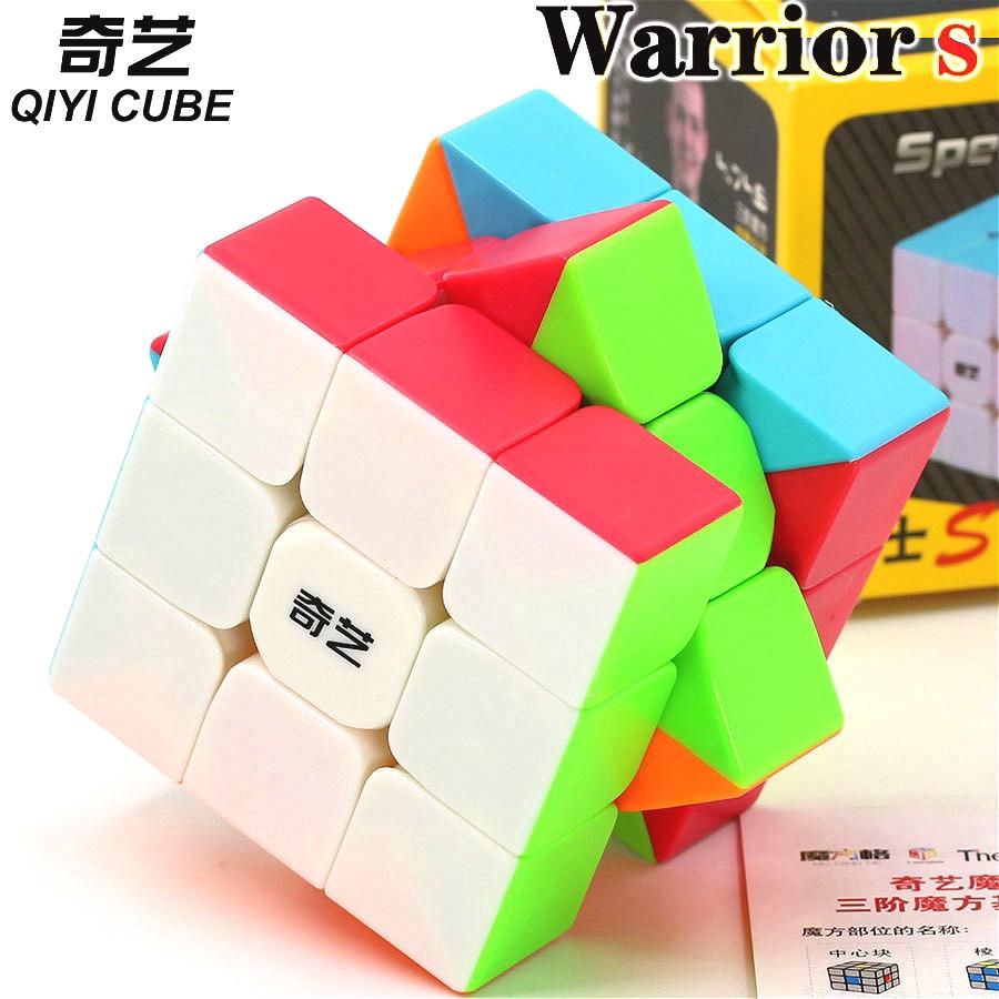 XMD QiYi Warrior W 3x3 Speed Cube 3x3x3 Stickerless Magic Cube Puzzles