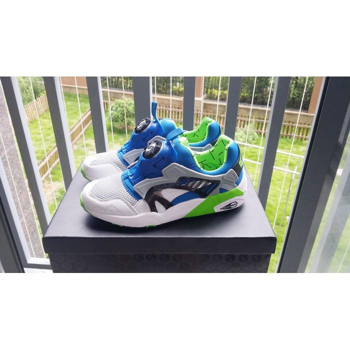 reputable site 69d1d 51ae4 Men s Shoes PUMA DISC BLAZE OG 1993 Hummer UFO White Blue Green 355662-03    Shopee Philippines