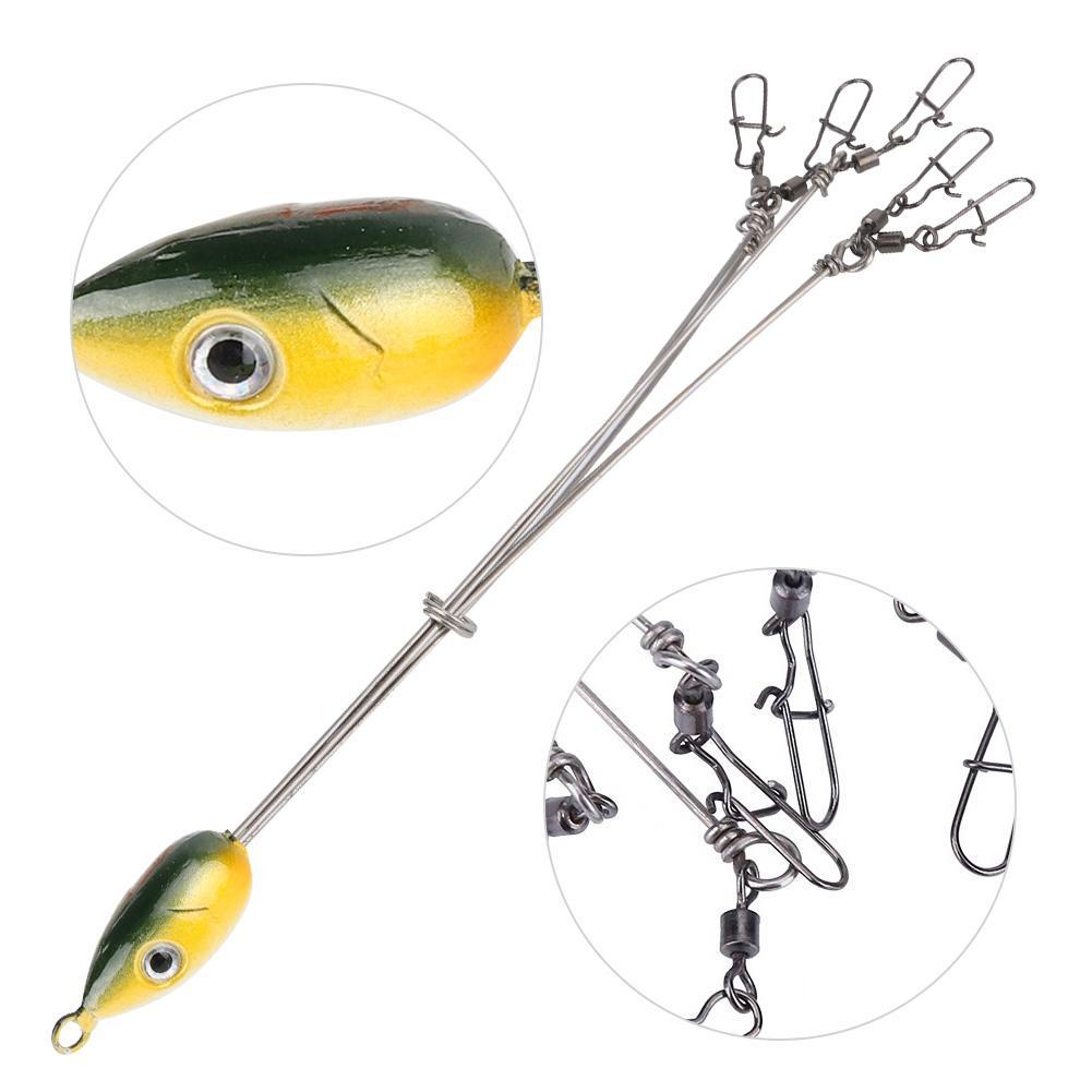 Durable Alabama Umbrella Jig Head Fishing Rig Bait Fish Lures With Snap Swivels