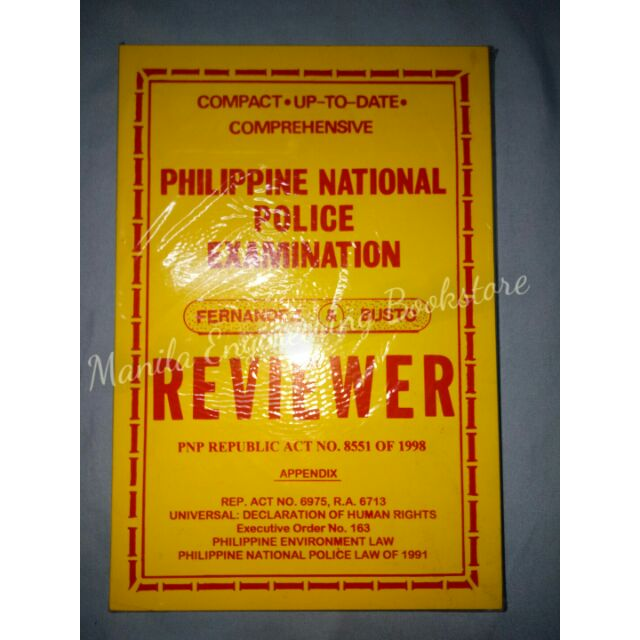 ORIG PHILIPPINE NATIONAL POLICE EXAMINATION REVIEWER Busto