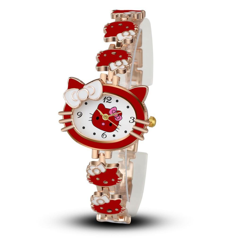 fb60db975 Hello Kitty Cartoon Watches Women Children Wristwatch Girls | Shopee ...