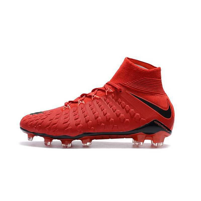 vast selection good clearance sale nike Hypervenom Phantom III DF FG all red high mesh soccer football shoes  39-45