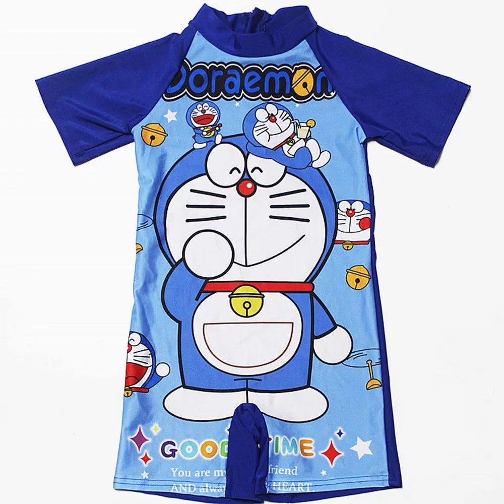 Boy Swimwear Swimming Cartoon Doraemon One Piece Onepiece Swimsuit Quick  Drying